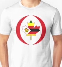 Zimbabwean Canadian Multinational Patriot Flag Series Unisex T-Shirt