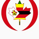 Zimbabwean Canadian Multinational Patriot Flag Series by Carbon-Fibre Media