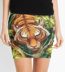 Tiger in the Lillies Mini Skirt