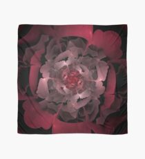 Abloom in Lusciously Crimson-Red Petals of a Rose Scarf