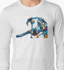 Great Dane Art - Stick With Me - By Sharon Cummings T-Shirt