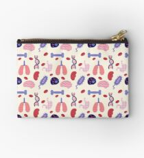Biology Organs and Cells Pattern  Studio Pouch