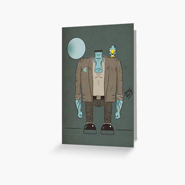 Frankenstein's Monster cartoon Greeting Card
