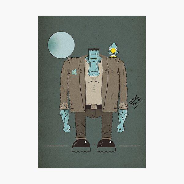 Frankenstein's Monster cartoon Photographic Print