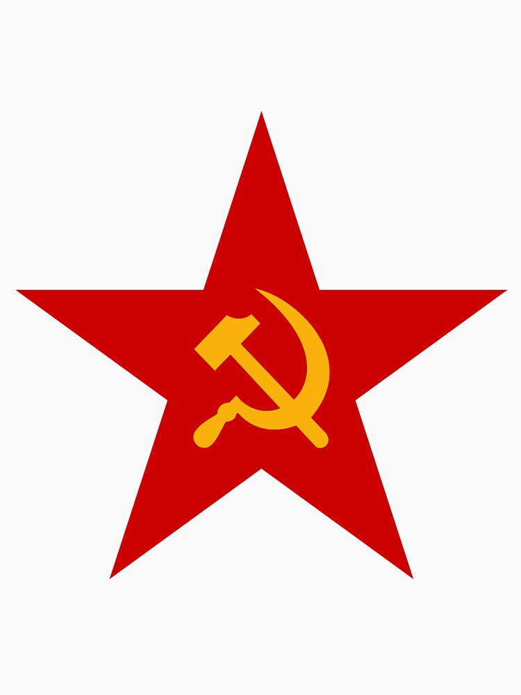Red Star With Hammer And Sickle Communism Ideology Historycal