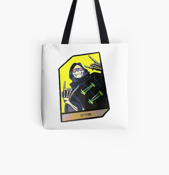 Let It Die trading Card Uncle Death Grim Reaper All Over Print Tote Bag