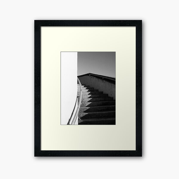 Curving Staircase photo Framed Art Print