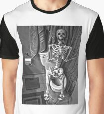 Skeleton on the Crapper Graphic T-Shirt