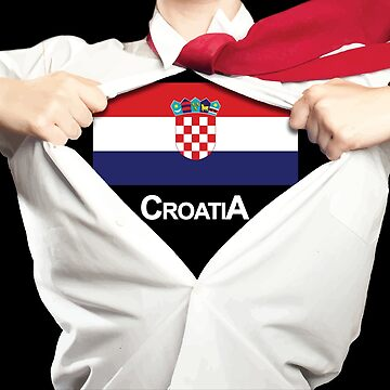 Womens's Croatia World Cup Super Hero by RLVantagePoint
