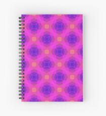 triangles texture magenta colorful seamless repeat pattern Spiral Notebook