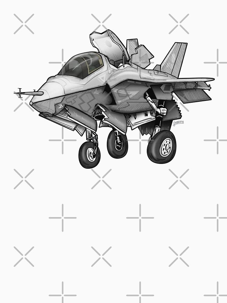 F-35B Lighting II Joint Strike Fighter Illustration by hobrath