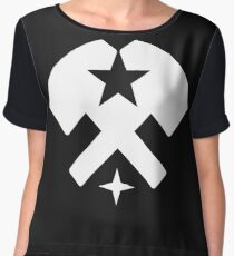 Stars and Hammers Chiffon Top