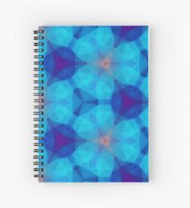 orange colorful magenta polygon seamless repeat pattern Spiral Notebook