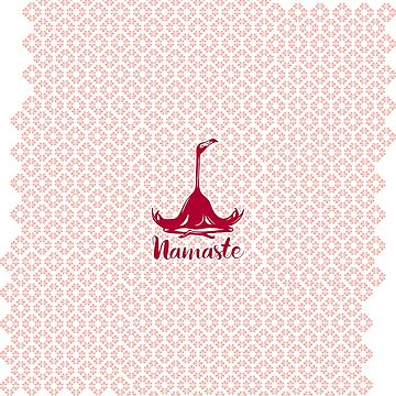 Namaste Pink Flamingo  by amelielegault