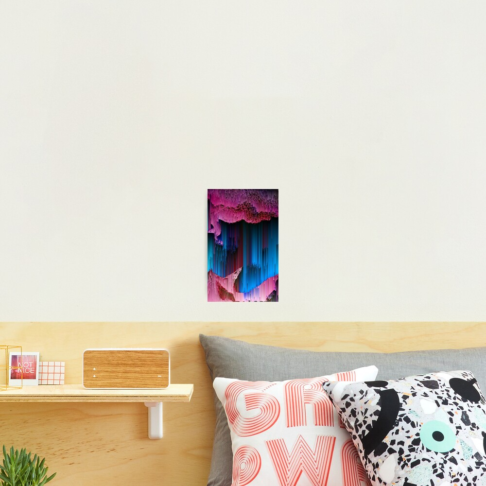 Cotton Candy - Abstract Glitchy Pixel Art Photographic Print