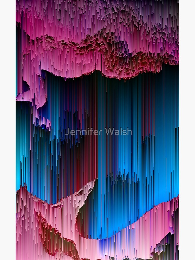 Cotton Candy - Abstract Glitchy Pixel Art by InsertTitleHere