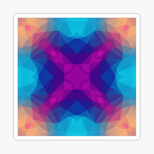 nahtloses Muster der bunten Dreieckpolygon-Orangenbeschaffenheit nahtloses Sticker