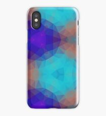 magenta lilac purple seamless colorful repeat pattern iPhone Case