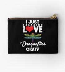 Just Freaking Love Dragonflies Studio Pouch