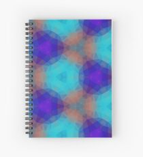 magenta lilac purple seamless colorful repeat pattern Spiral Notebook