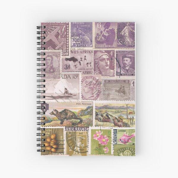 Heather Hills - Postage Stamp Landscape Spiral Notebook