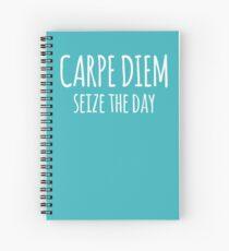Cuaderno de espiral Carpe Diem seize the day- diseño de motivación inspiradora