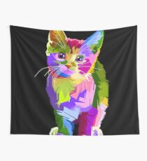 Neon Kitty  Wall Tapestry