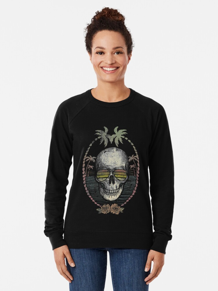 Alternate view of Palm Skull Lightweight Sweatshirt