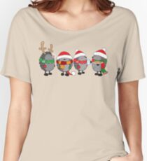 Christmas hedgehogs Women's Relaxed Fit T-Shirt