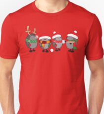 Christmas hedgehogs Unisex T-Shirt