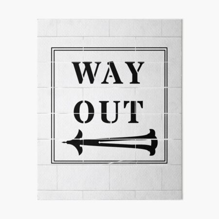 Way Out Sign - Left Arrow Art Board Print