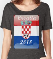 Croatia Soccer shirt Team Russia 2018 TShirt Football Women's Relaxed Fit T-Shirt
