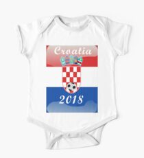 Croatia Soccer shirt Team Russia 2018 TShirt Football One Piece - Short Sleeve