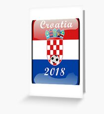 Croatia Soccer shirt Team Russia 2018 TShirt Football Greeting Card