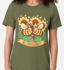 Bee Compassionate - Save the Bees Tri-blend T-Shirt