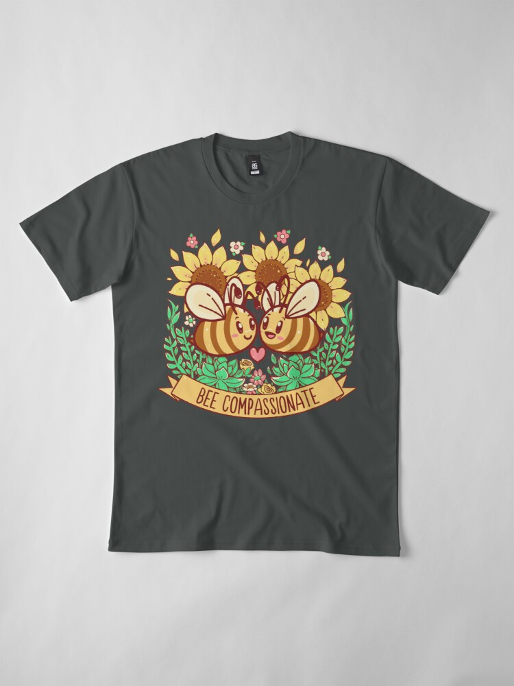 Alternate view of Bee Compassionate - Save the Bees Premium T-Shirt