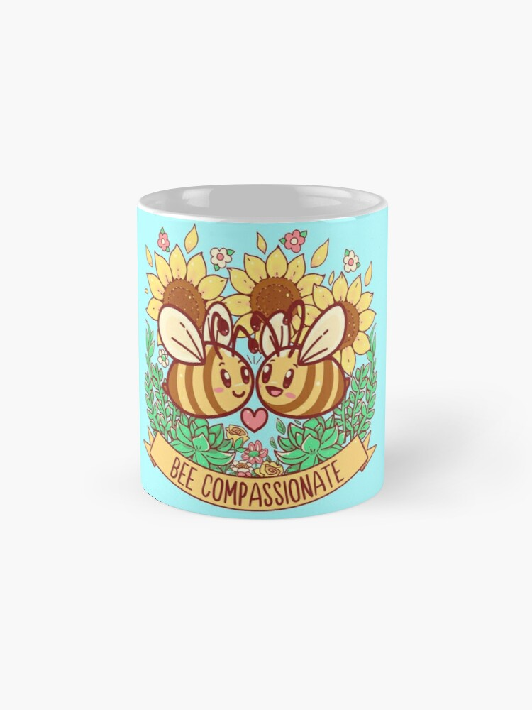 Alternate view of Bee Compassionate - Save the Bees Mug