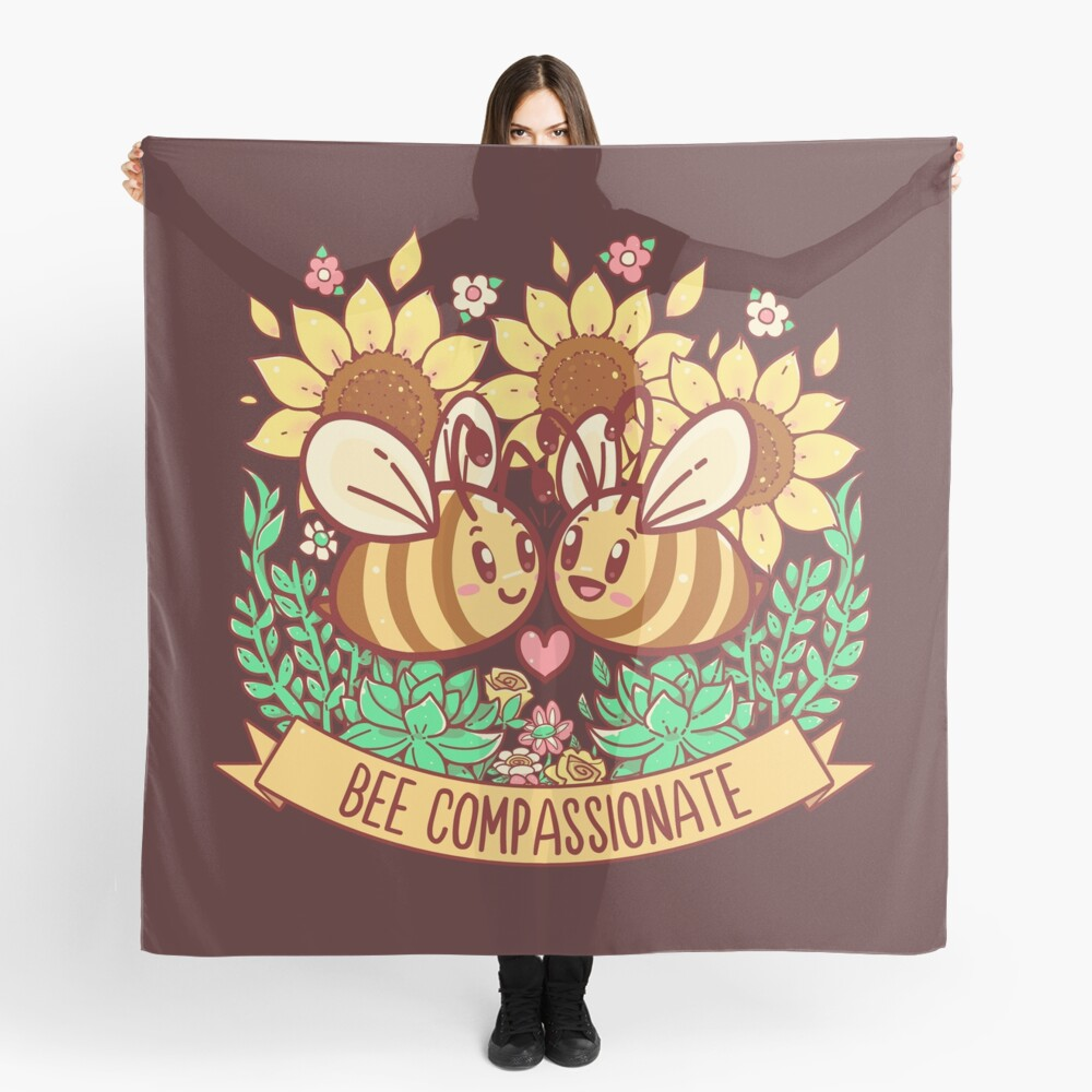 Bee Compassionate - Save the Bees Scarf