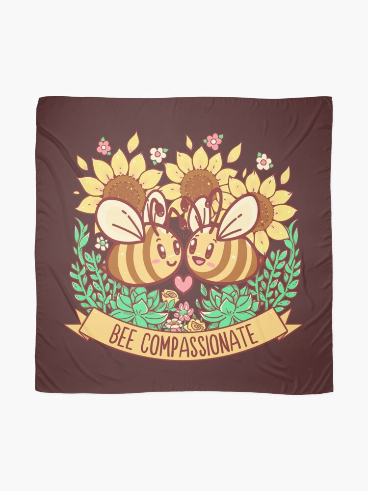 Alternate view of Bee Compassionate - Save the Bees Scarf