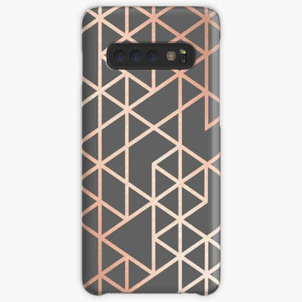 Rose Gold and Gray Geometric Pattern Samsung Galaxy Snap Case