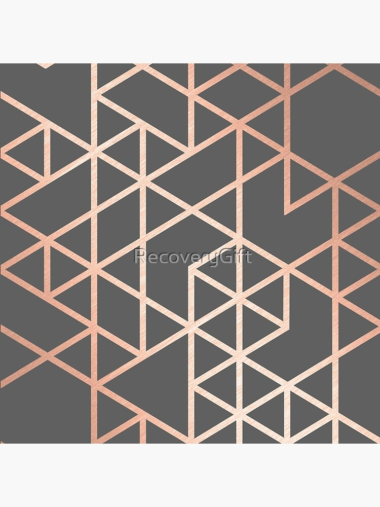 Rose Gold and Gray Geometric Pattern by RecoveryGift