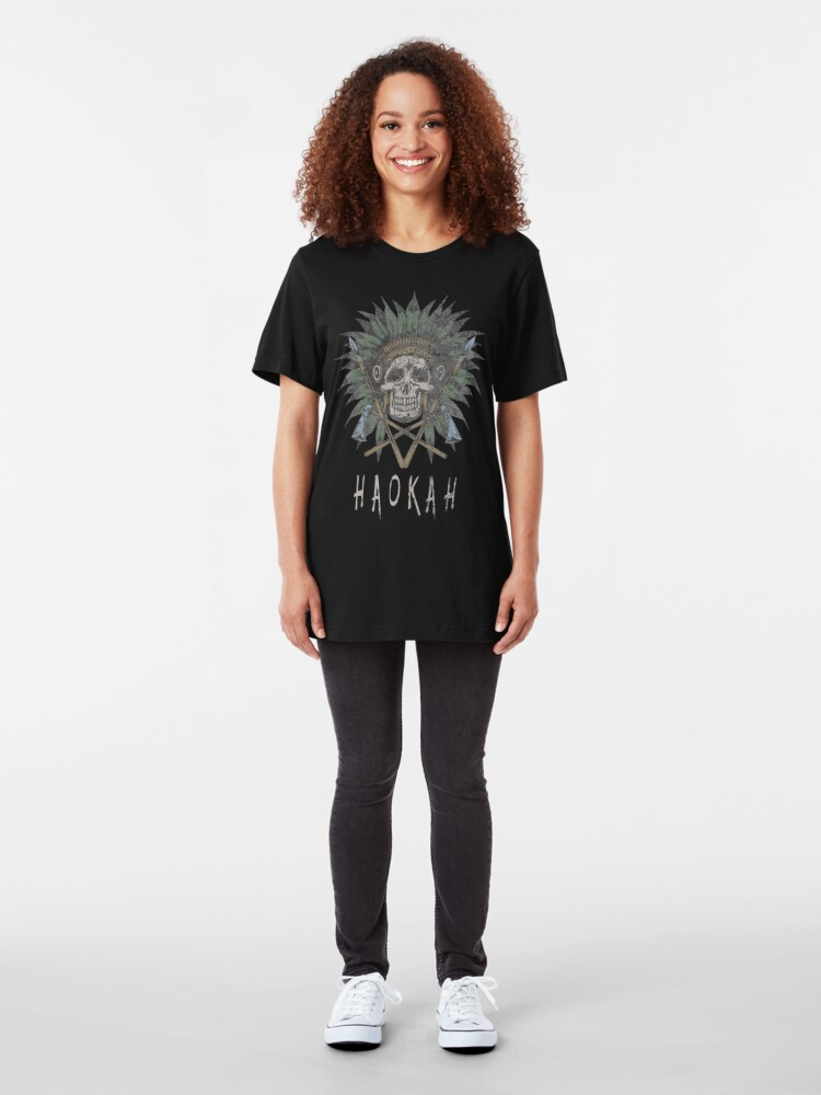 Alternate view of Haokah Native American Heyoka Empath Sacred Clown Empathy Slim Fit T-Shirt