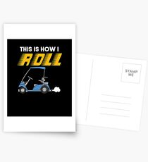 How I Roll Golf Cart Postcards