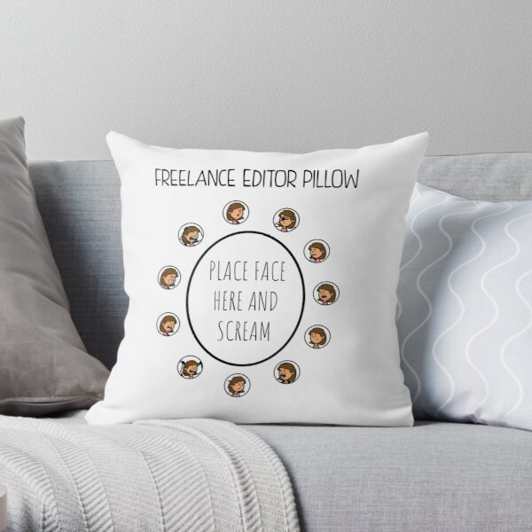 Freelance Editor Pillow Throw Pillow