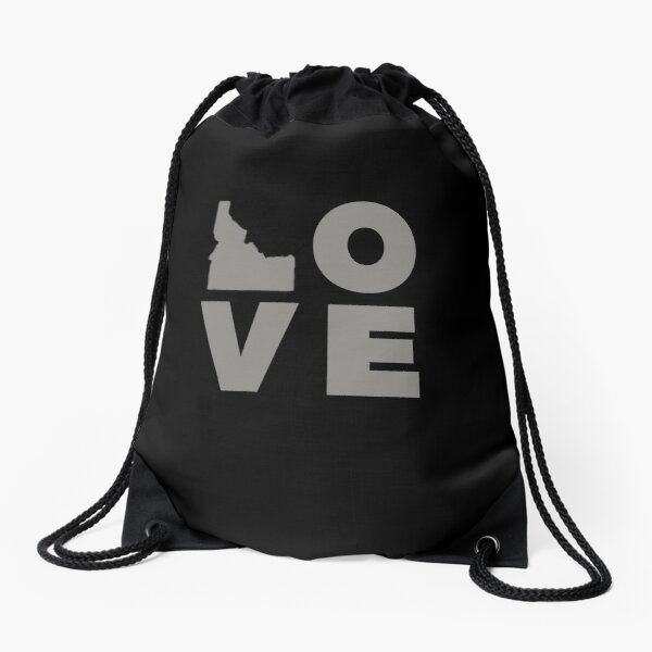 Idaho Love Art - Idahome Funny Gifts Drawstring Bag
