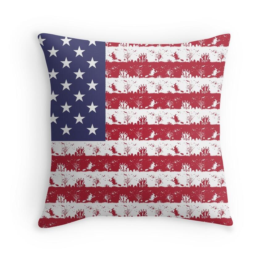 USA Flag Halloween Holiday Nightmare Stripes