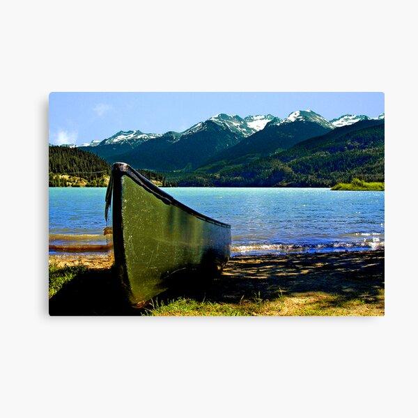Row Away Canvas Print