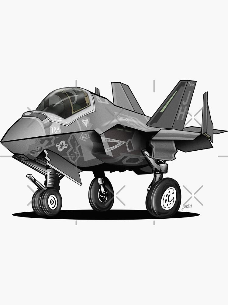 F-35C Lightning II Joint Strike Fighter Illustration by hobrath