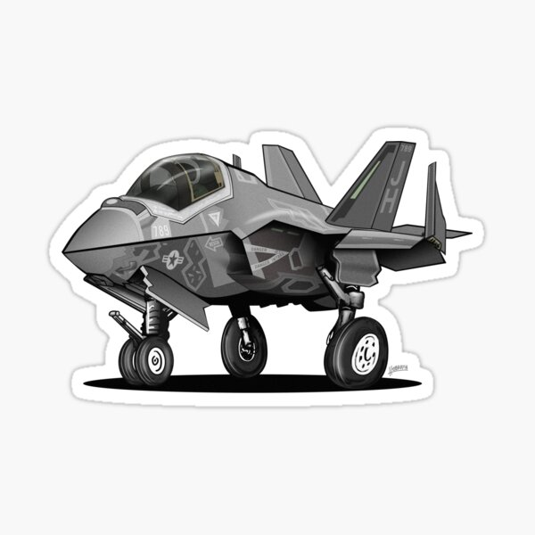 F-35C Lightning II Joint Strike Fighter Illustration Sticker