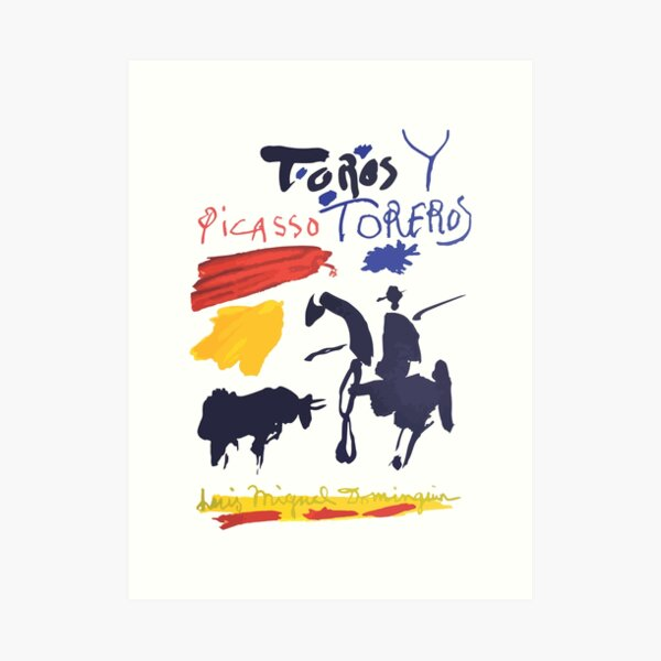 Toros Y Toreros (Bulls and Bullfighters) Artwork By Pablo Picasso T Shirt, Book Cover Art Print